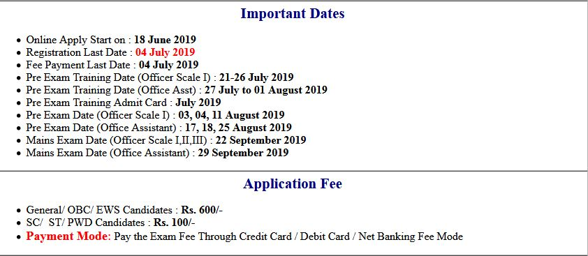 BPS RRB VIII Officer Scale I, II & III Interview Call Letter 2019