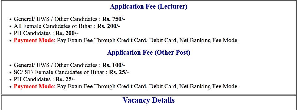 Bihar BPSC Various Post Recruitment Online Form 2020