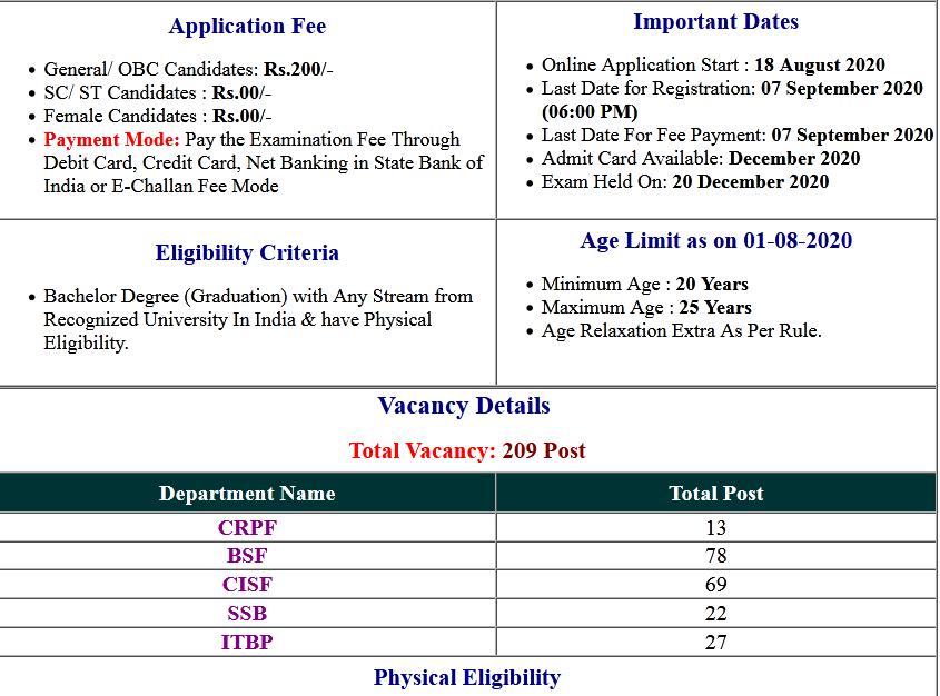 UPSC CAPF AC (Assistant Commandant) Online Form 2020