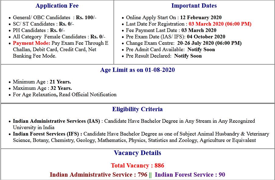 UPSC Civil Services Change Exam Centre 2020