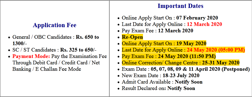 NTA JEE MAIN Phase II April 2020 Online Correction, New Exam Date
