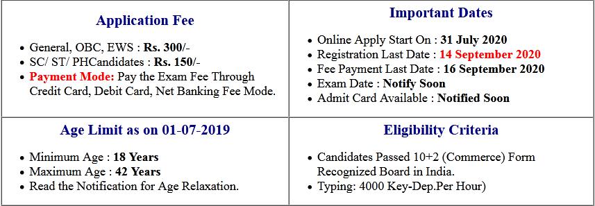 UKSSSC Account Clerk Online Form 2020