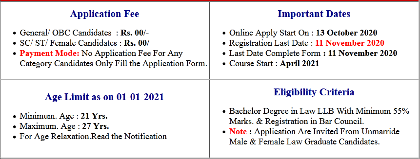 Indian Army JAG 26th Entry Scheme Recruitment 2020
