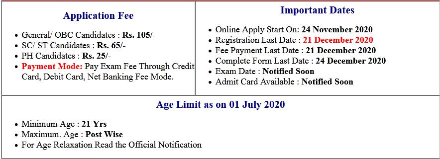 UPPSC Direct Various Post Online Form 2020