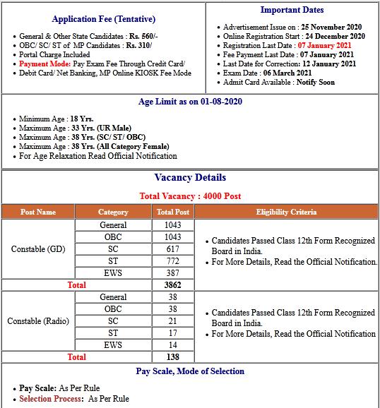Madhya Pradesh MPPEB 4000 Post Online Form 2020