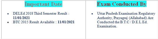 UP DELEd / UPBTC 2019 2nd Semester Result 2021