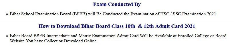 Answer Key BSEB Bihar Board Class 10th Objection 2021