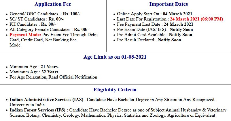 UPSC- Civil Services IAS/ IFS Pre Candidates Rejected List 2021