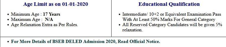 BSEB- D.El.Ed Fee Refund 2020-22