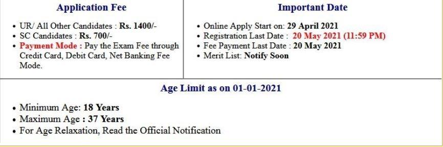 PSCB- Punjab Co-operative Bank Various Post Application Form 2021