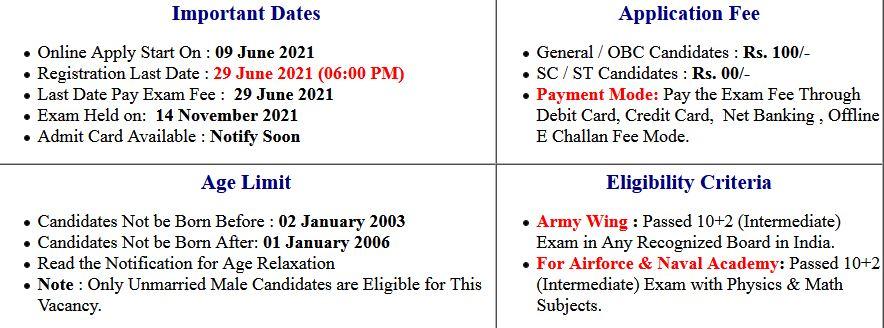 UPSC- NDA/ NA I and II New Exam Date/ Application Form 2021