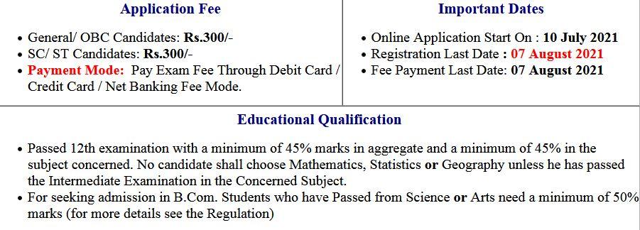 PPUP- Patliputra University Graduation (UG) Application Form 2021-24