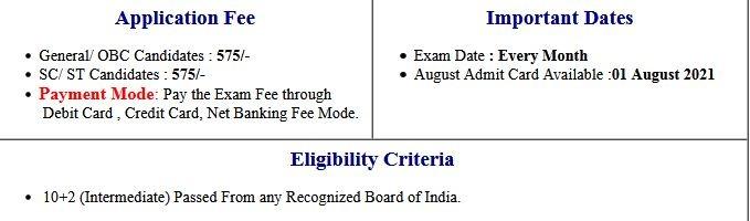 NIELIT CCC Auugst Exam Admit Card 2021