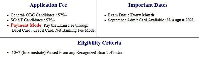 CCC NIELIT October Exam Admit Card 2021