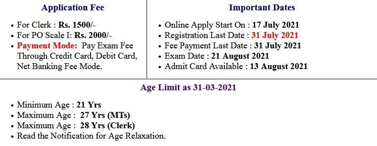 Nainital Bank Clerk and MT Exam Admit Card 2021
