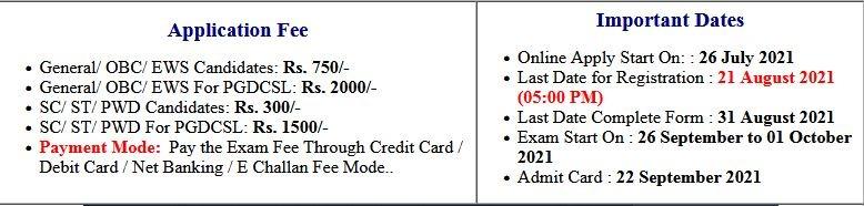 DU Delhi University PG Entrance Admit Card 2021